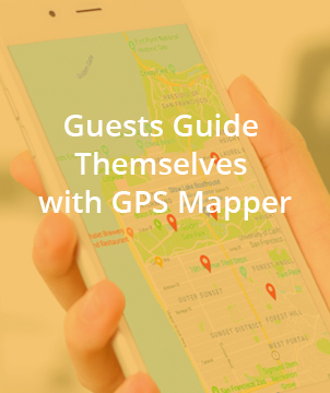 Guests Guide Themselves with GPS Mapper